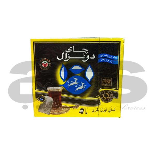GAZALIN TEA BAGS BLACK [100 PCS]