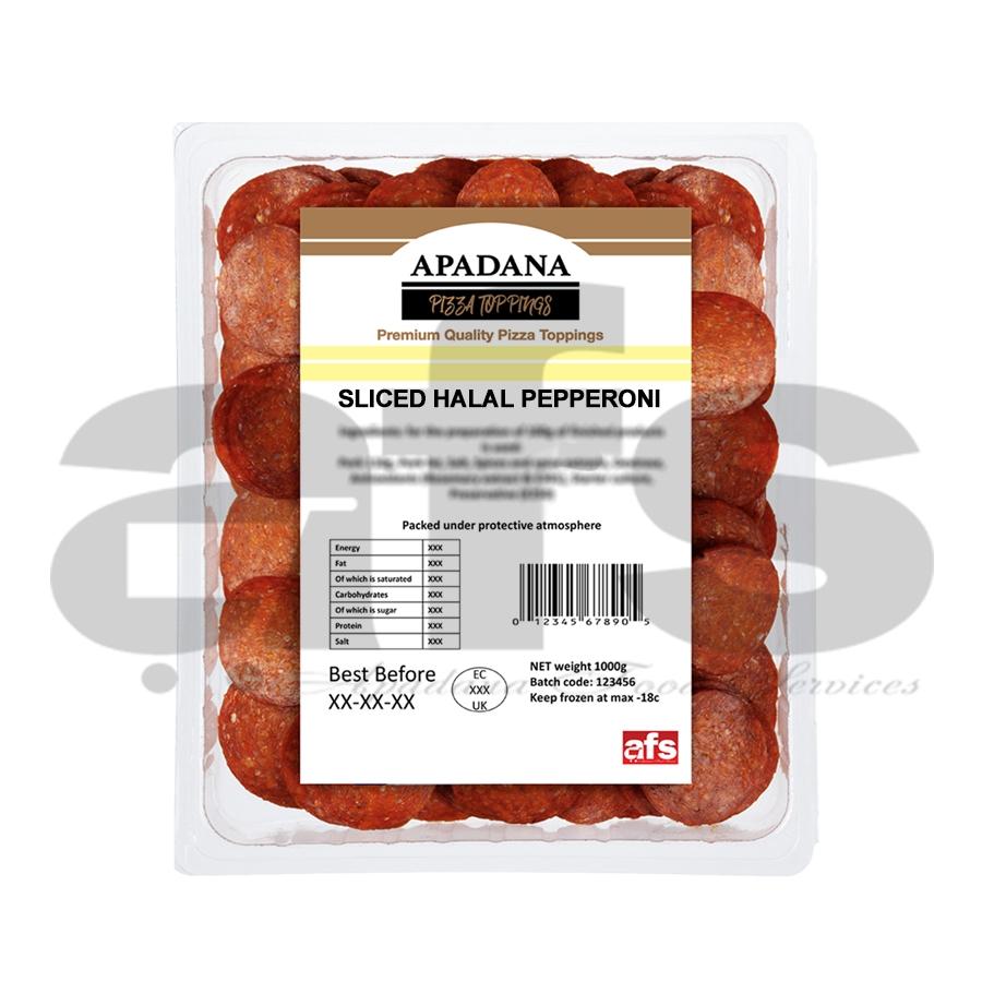Pepperoni Halal Apadana 1kg H Harlequin Stockport Limited