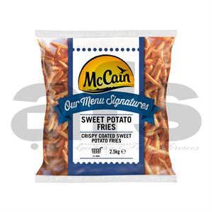 FRIES - McCAIN SWEET POTATO [4 X 2.5Kg]
