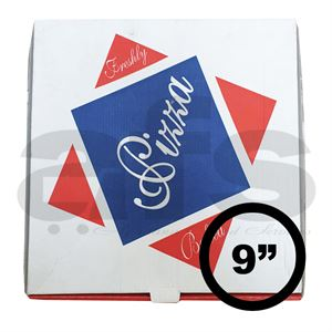"PIZZA BOX - 9"" WHITE [100 PCS]"