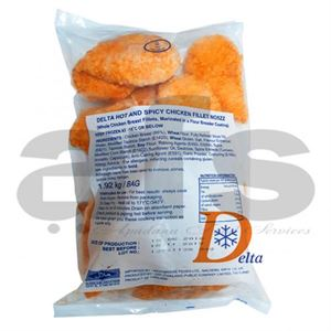 DELTA CHICKEN FILLET HOT & SPICY [16 X 120g] *H