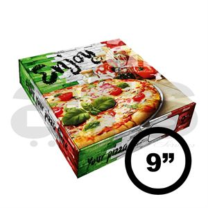 "PIZZA BOX - 9"" ITALIAN WALL [100 PCS]"